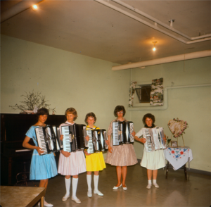 accordian players vintage photo